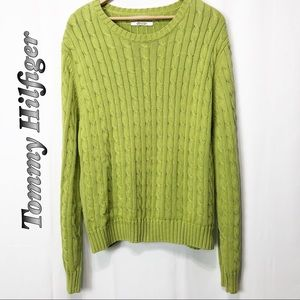 Tommy Hilfiger Green cable knit sweater XXL